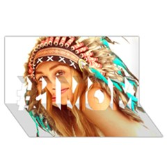 Indian 27 #1 Mom 3d Greeting Cards (8x4)  by indianwarrior