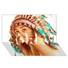 Indian 27 Sorry 3d Greeting Card (8x4)  by indianwarrior