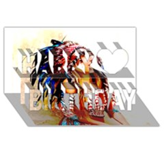 Indian 22 Happy Birthday 3d Greeting Card (8x4)  by indianwarrior