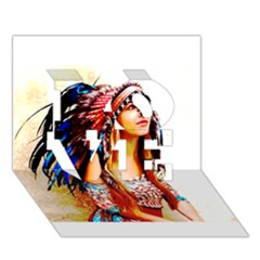 Indian 22 Love 3d Greeting Card (7x5)
