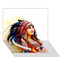 Indian 22 Heart Bottom 3d Greeting Card (7x5)  by indianwarrior