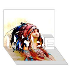 Indian 22 Hope 3d Greeting Card (7x5)