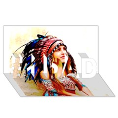 Indian 22 #1 Dad 3d Greeting Card (8x4)  by indianwarrior