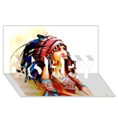 Indian 22 Sorry 3d Greeting Card (8x4)  by indianwarrior