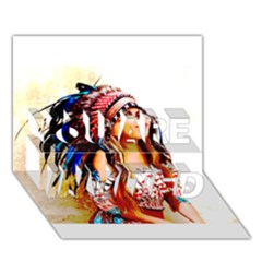 Indian 22 You Are Invited 3d Greeting Card (7x5)  by indianwarrior