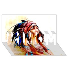 Indian 22 #1 Mom 3d Greeting Cards (8x4)  by indianwarrior