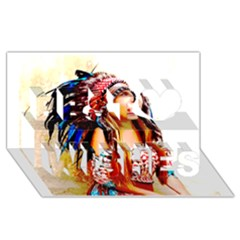 Indian 22 Best Wish 3d Greeting Card (8x4)  by indianwarrior