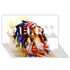 Indian 22 Merry Xmas 3d Greeting Card (8x4)  by indianwarrior