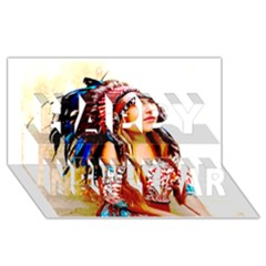 Indian 22 Happy New Year 3d Greeting Card (8x4)  by indianwarrior