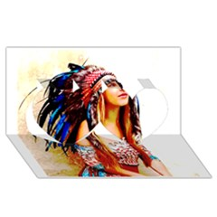 Indian 22 Twin Hearts 3d Greeting Card (8x4)  by indianwarrior