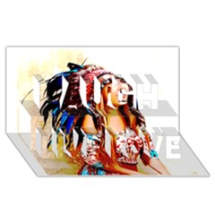 Indian 22 Laugh Live Love 3d Greeting Card (8x4)  by indianwarrior