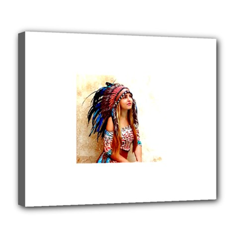 Indian 21 Deluxe Canvas 24  X 20   by indianwarrior
