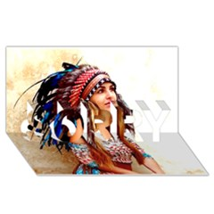 Indian 21 Sorry 3d Greeting Card (8x4)  by indianwarrior