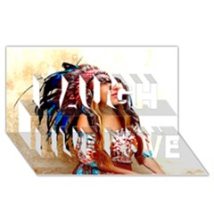 Indian 21 Laugh Live Love 3d Greeting Card (8x4)  by indianwarrior