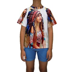 Indian 21 Kid s Short Sleeve Swimwear by indianwarrior