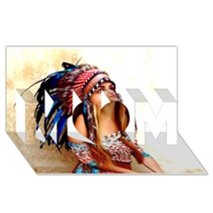 Indian 21 Mom 3d Greeting Card (8x4)  by indianwarrior