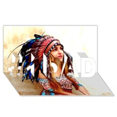 Indian 21 #1 Dad 3d Greeting Card (8x4)