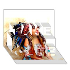 Indian 21 Take Care 3d Greeting Card (7x5)