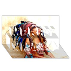 Indian 21 Merry Xmas 3d Greeting Card (8x4)  by indianwarrior
