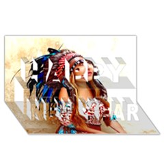 Indian 21 Happy New Year 3d Greeting Card (8x4)  by indianwarrior