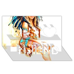 Indian 18 Best Friends 3d Greeting Card (8x4)  by indianwarrior
