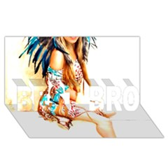 Indian 18 Best Bro 3d Greeting Card (8x4)  by indianwarrior