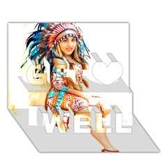 Indian 18 Get Well 3d Greeting Card (7x5)  by indianwarrior