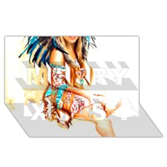 Indian 18 Merry Xmas 3d Greeting Card (8x4)  by indianwarrior