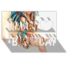 Indian 17 Happy Birthday 3d Greeting Card (8x4)  by indianwarrior