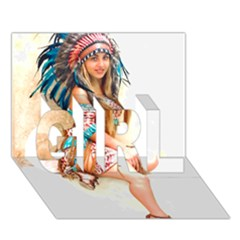 Indian 17 Girl 3d Greeting Card (7x5)  by indianwarrior