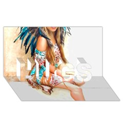 Indian 17 Hugs 3d Greeting Card (8x4)  by indianwarrior
