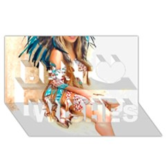 Indian 17 Best Wish 3d Greeting Card (8x4)  by indianwarrior