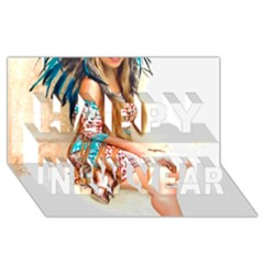 Indian 17 Happy New Year 3d Greeting Card (8x4)