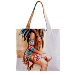 Indian 17 Zipper Grocery Tote Bag by indianwarrior