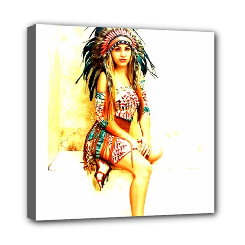 Indian 16 Mini Canvas 8  X 8  by indianwarrior