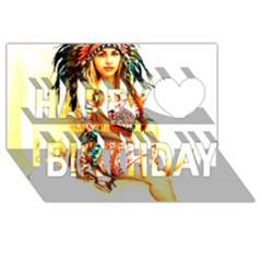 Indian 16 Happy Birthday 3d Greeting Card (8x4)  by indianwarrior