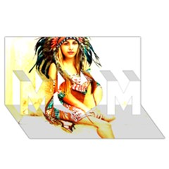 Indian 16 Mom 3d Greeting Card (8x4)  by indianwarrior