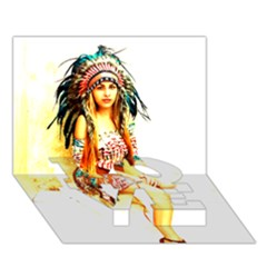 Indian 16 Love Bottom 3d Greeting Card (7x5)