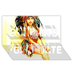 Indian 16 Congrats Graduate 3d Greeting Card (8x4)  by indianwarrior