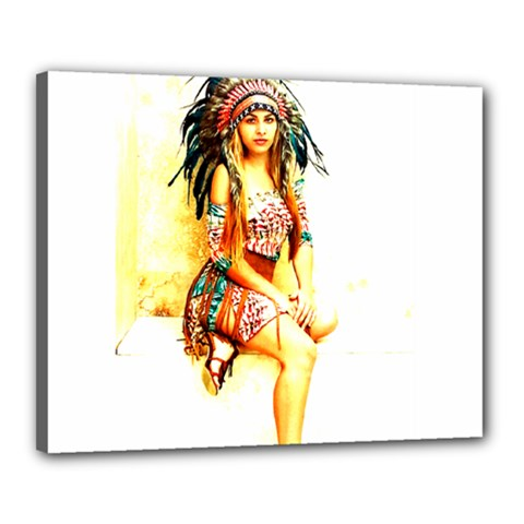 Indian 16 Canvas 20  X 16  by indianwarrior