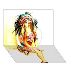 Indian 16 Apple 3d Greeting Card (7x5)