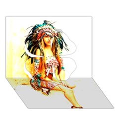 Indian 16 Clover 3d Greeting Card (7x5)  by indianwarrior