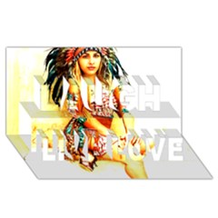 Indian 16 Laugh Live Love 3d Greeting Card (8x4)  by indianwarrior
