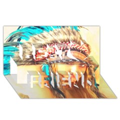 Indian 14 Best Friends 3d Greeting Card (8x4)  by indianwarrior