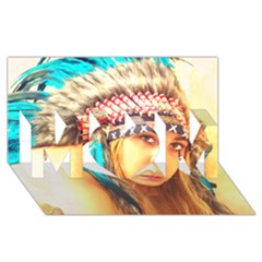 Indian 14 Mom 3d Greeting Card (8x4)  by indianwarrior