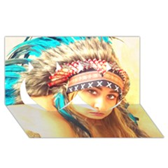 Indian 14 Twin Hearts 3d Greeting Card (8x4)  by indianwarrior