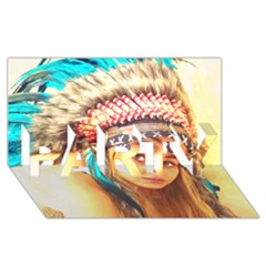 Indian 14 Party 3d Greeting Card (8x4)  by indianwarrior