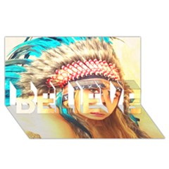 Indian 14 Believe 3d Greeting Card (8x4)  by indianwarrior