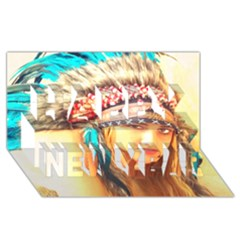 Indian 14 Happy New Year 3d Greeting Card (8x4)  by indianwarrior