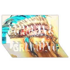 Indian 14 Congrats Graduate 3d Greeting Card (8x4)  by indianwarrior
